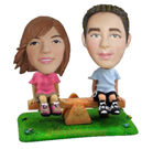 Custom See-Saw Couple Bobblehead