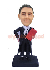 Male Lawyer Custom Bobblehead Doll