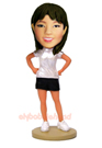 Custom Active Girl Bobble Head Doll