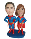 Custom Superman Couple Bobble Head Doll