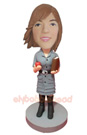 Custom School Teacher Bobble Head Doll