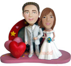 Custom Wedding Couple Bobble Head Doll 6