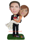 Custom Groom Carried Bride Bobblehead 2