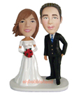 Custom Wedding Couple Bobblehead 2