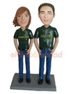 Custom Casual Couple Bobblehead