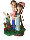 Custom Romantic Holiday Couple Bobblehead