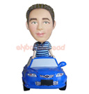Custom Casual Guy In The Car Bobblehead