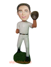 Baseball Catching Player Bobblehead -2