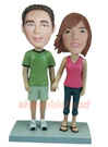 Custom Couple Holding Hands Bobblehead