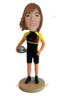 Female Cyclist Custom Bobblehead Doll