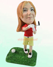 Custom Female Golfer Bobblehead
