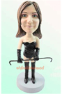 Custom Fashion Girl Bobble head Doll