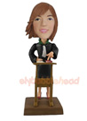 Custom Female Lawyer Custom Bobblehead Doll