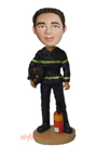 Custom Fireman Bobble Head Doll