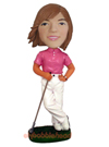 Custom Female Golfer Bobblehead -2