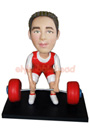 Custom Male Weight Lifter Bobblehead