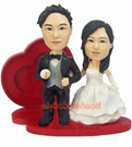 Custom Forever Love Wedding Bobblehead