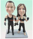 Custom boxing Custom Bobblehead Couple