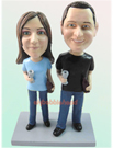 Custom Couple Holding jar Bobblehead