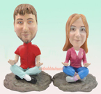 Custom Couples Yoga Custom Bobblehead