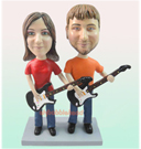 Custom Couple Guitar Play BobbleHead
