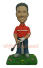 Stylish Golfer Bobblehead Doll-1