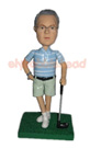 Custom Stylish Golfer Bobblehead Doll-2