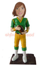 Custom Female Quarterback Football Player Bobblehead