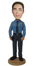 Custom Security Bobble Head Doll