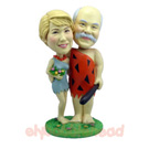Custom Stone Age Couple Bobblehead