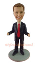 Custom Humorous Businessman Cardholder Bobblehead