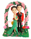 Custom Wedding Couple Bobble head-2