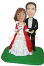 Custom Wedding Couple Bobble Head Doll 7