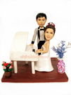 Custom Piano Lovers Wedding Cake Topper