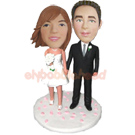 Custom Wedding Couple Bobble Head Doll 8