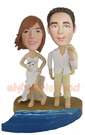 Custom Wedding Beach Custom Bobblehead Doll