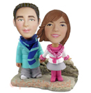 Custom Winter Theme Couple Bobblehead