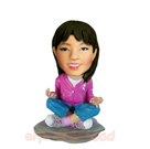 Custom Yoga Girl Custom Bobble Head