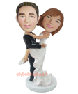 Custom Groom Carried Bride Bobblehead 1
