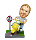 Custom Male on Motorcycle(Motorbike) BobbleHead