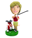 Custom Female Golfer Champion Bobblehead