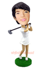 Custom Female Golfer Custom Bobblehead