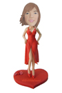 Custom Bobblehead in Slip Dress