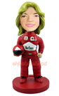 Female Racing Driver Custom Bobblehead