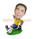Soccer Player in Action Custom Bobblehead