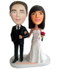 Custom Wedding Couple Bobblehead 3