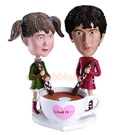 Custom Coffee Cup Couple Bobble Head