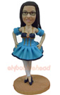 Custom Dancing Pretty Girl Bobblehead