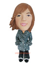 Custom Fashion Winter Girl Bobblehead Doll