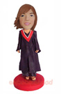 Custom Female Graduation Bobblehead 2